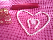 Ожерелье жемчуг с браслетом